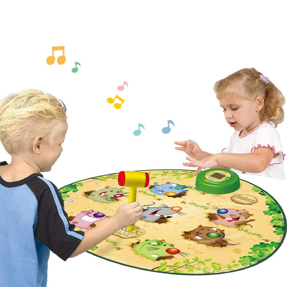 Bobody Children's Whac a Mole Game Kids Dance Mat Puzzle Music Pad Toys