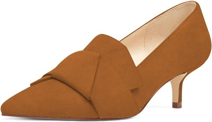 Women Ladies Low Block Heels Court Shoes Kitten Pumps Loafers Casual Work Office
