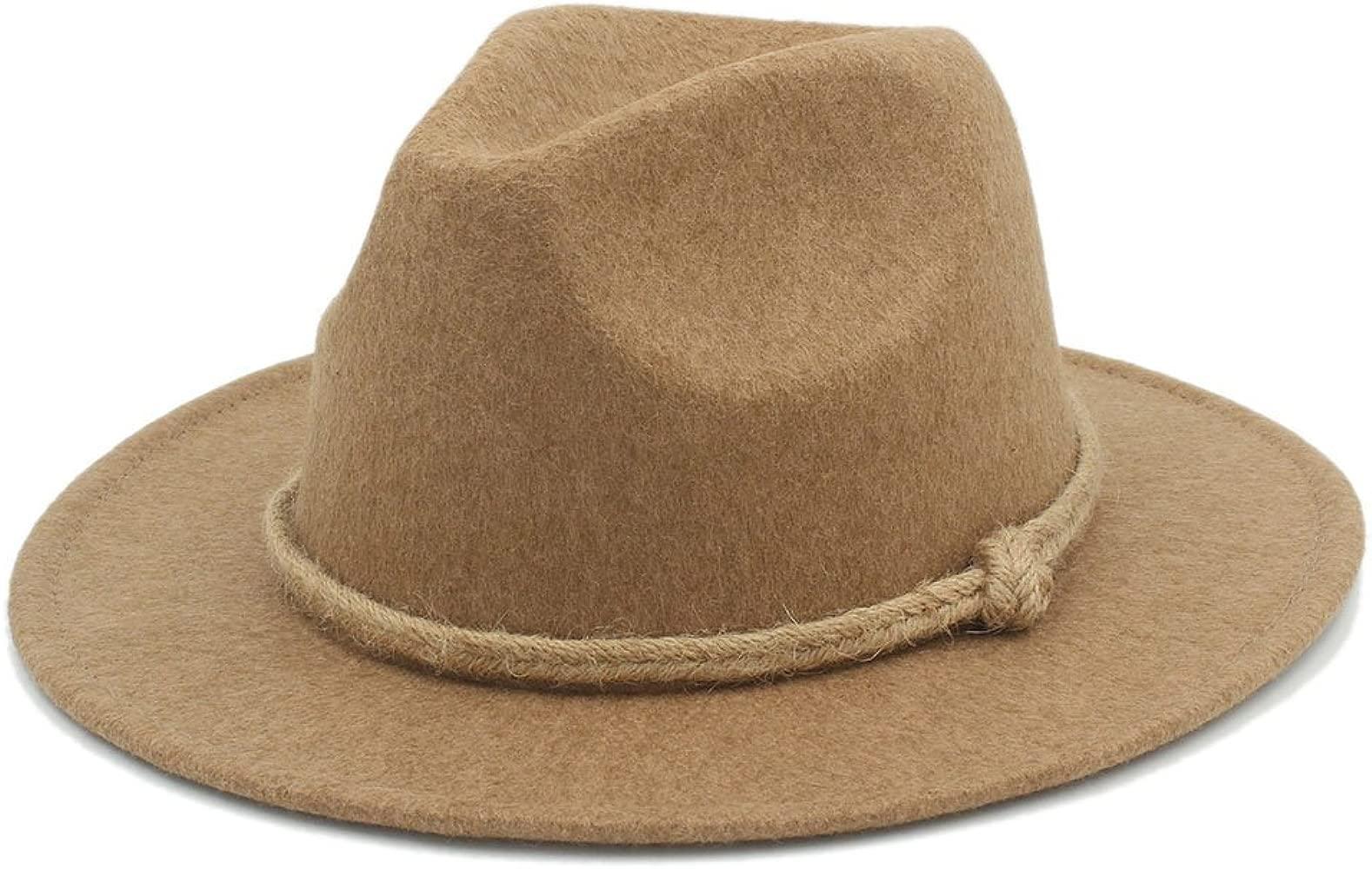 YQXR Moda Sombreros Sombrero Fedora de moda para hombre
