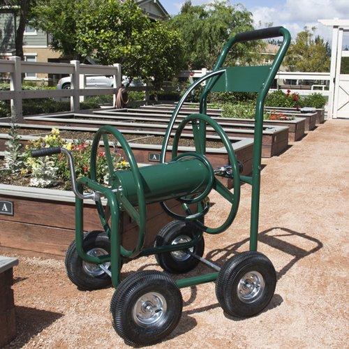 Water Hose Reel Cart 300 FT Outdoor Garden Heavy Duty
