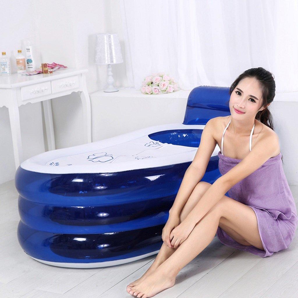 Para Adultos Azul Bañera De 130x70x70cm Baño Plástico Engrosada OiTXZulwPk