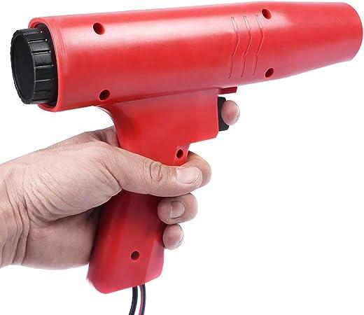 Glx Zündzeitpunktpistole Zündlichtpistole Motor Timing Light Zündzeitpunkt Stroboskoplampe Induktive Timing Lampe Zündeinstelllampe Blitzpistole Rot Sport Freizeit