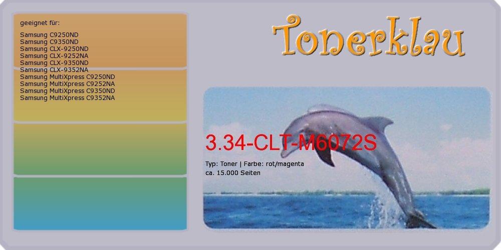 Kompatibel Toner 3.34-CLT-M6072S für  Samsung CLX-9252NA als Ersatz für Samsung CLT-M6072S   SS619A