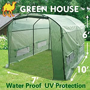 Strong Camel New Greenhouse 10' X7'X6' Larger Hot Garden House by Sunrise