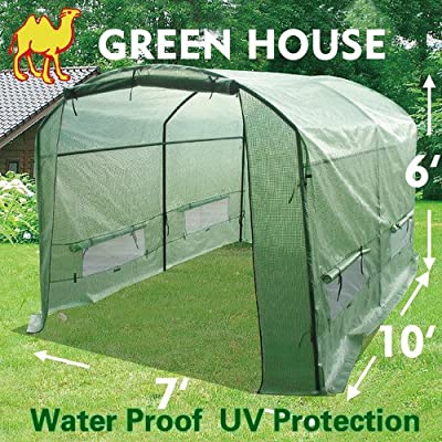 STRONG CAMEL New Greenhouse 10' X7'X6' Larger Hot Garden House