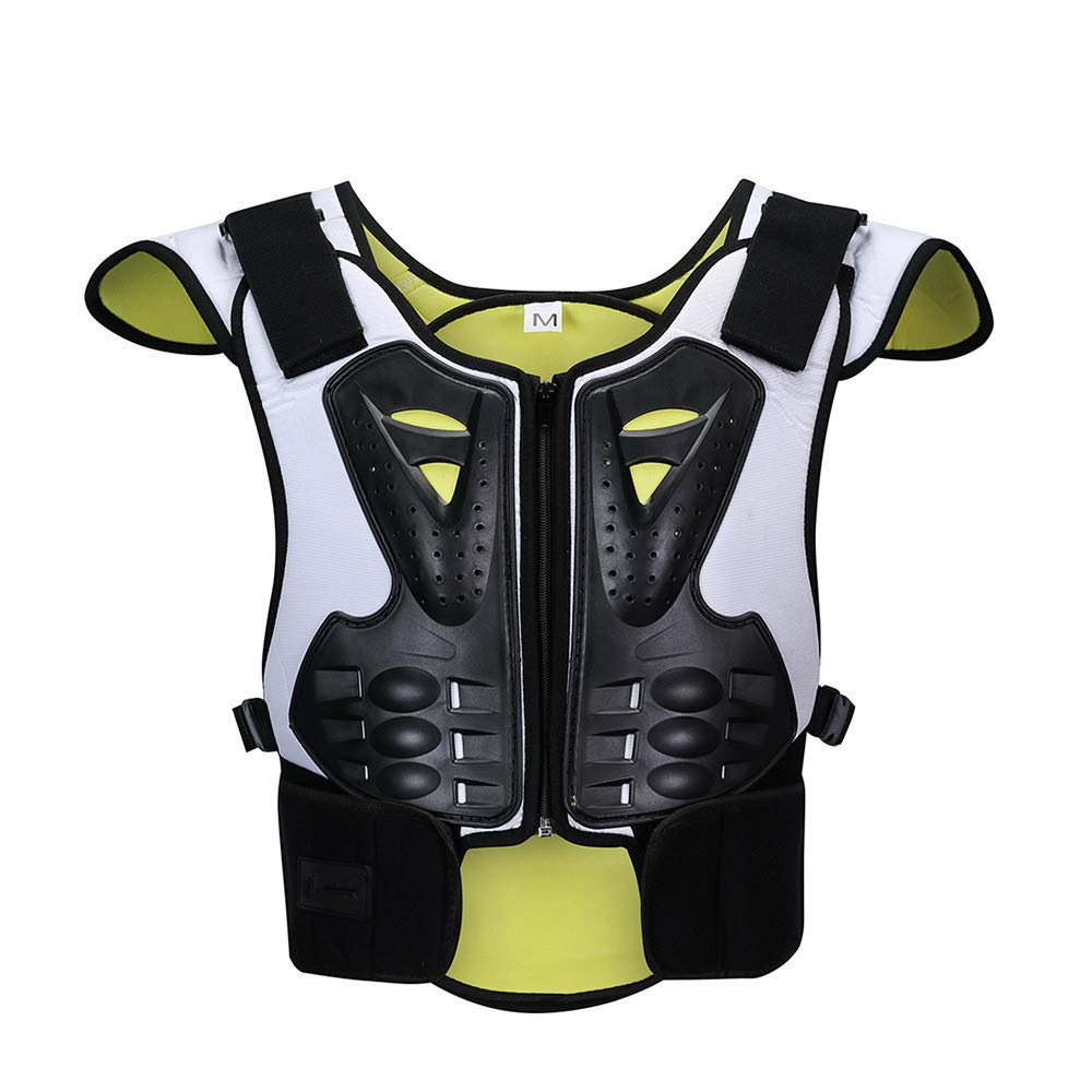 Body Armor Jacket Children Reflective Skating Skiing Extreme Sports Protective Gear Protection Back Chest Spine Sports Protection for Kids Motorcycle Riding Chest Armor (Size : M)