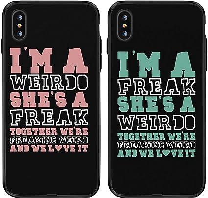 Mejores Amigos Bff dos chicas par cada funda para iPhone 6 7 XS