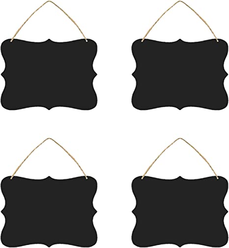 Amazon.com: Booluee - Paquete de 4 carteles colgantes de ...