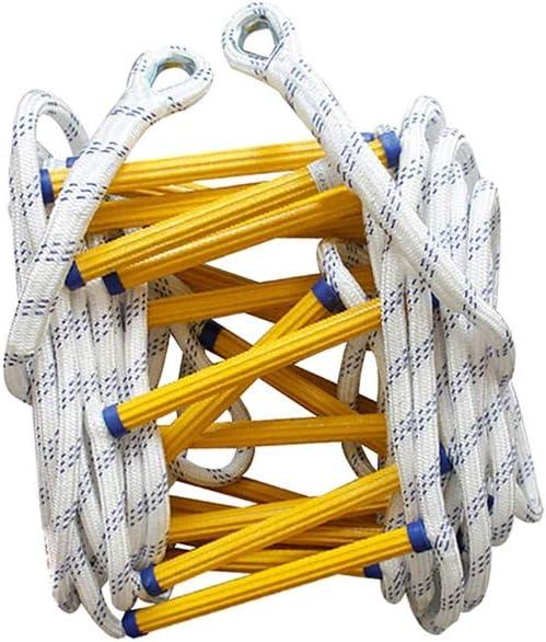 XFTJJNN Escaleras de Evacuación Escalera Escape Escalera de Cuerda de Emergencia Resistente al Fuego Escalera de Nailon Suave for Ideal for Escalada, Árbol, Casa contra Incendios (Size : 15m): Amazon.es: Hogar