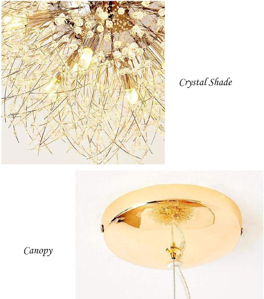 Ceiling Lights BAYCHEER Crystal Chandelier 3 Lights Modern Pendant