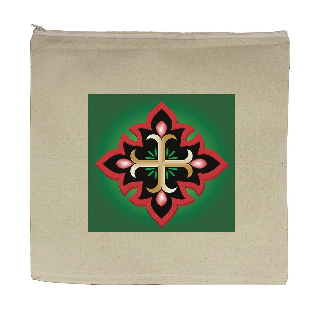 Canvas Zipper Pouch Tote 5.5''X7.5'' Christian Anchor Holy Cross Style In Print by Style in Print