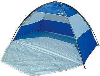 Breakout Yello UV Protection Solaire Tente de Plage Abri Coupe-Vent UPF 40+ Rouge/Argent