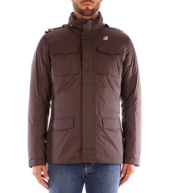 K WAY MANFIELD THERMO Plus Giubbotto Uomo Kway Blue Brown In