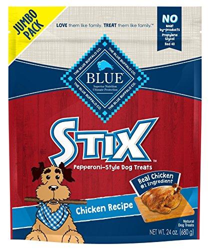 - Blue Buffalo Blue Stix Chicken Recipe Pepperoni-Style Dog Treats, 24Oz Bag