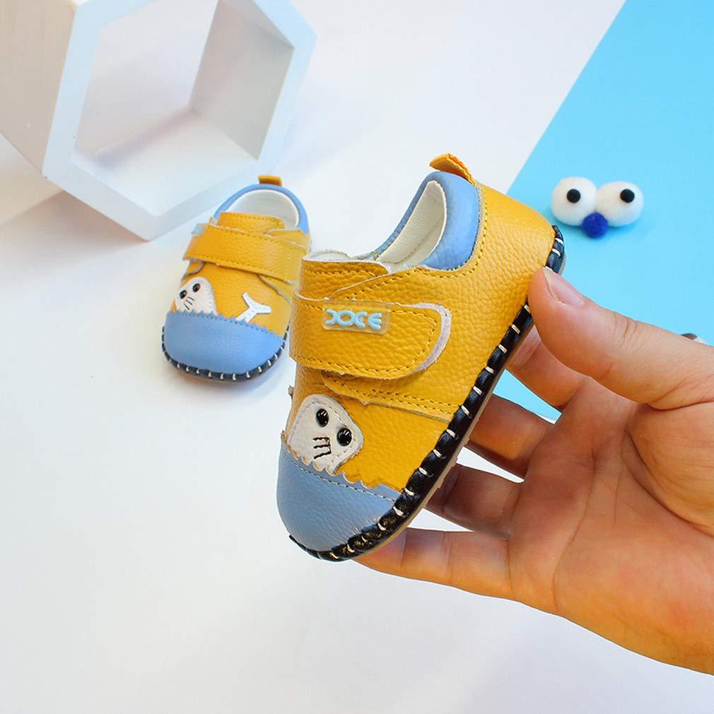 GEMVIE Zapatos de Primeros Paso para Beb/é Ni/ño Zapatillas Suela Blanda Antideslizante Cierre de Velcro PU
