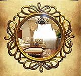 GuiXinWeiHeng Vintage round mirror wall mirror dresser fireplace mirror frame