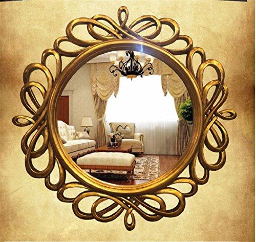 GuiXinWeiHeng Vintage round mirror wall mirror dresser fireplace mirror frame by GuiXinWeiHeng