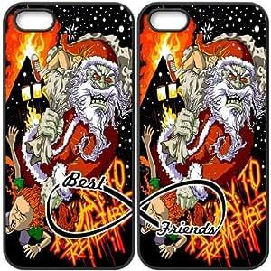 JiHuaiGu (TM) iPhone 5 5S funda negro BFF mejores amigos-un día para recordar personalizado temático iPhone 5 5S funda OJ6350