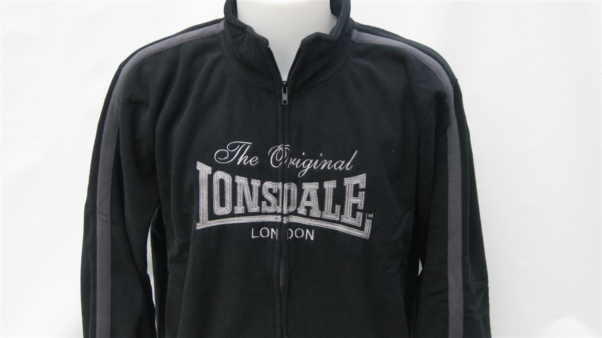 Lonsdale Original London Mens Negro Polar Chándal Chaqueta de ...