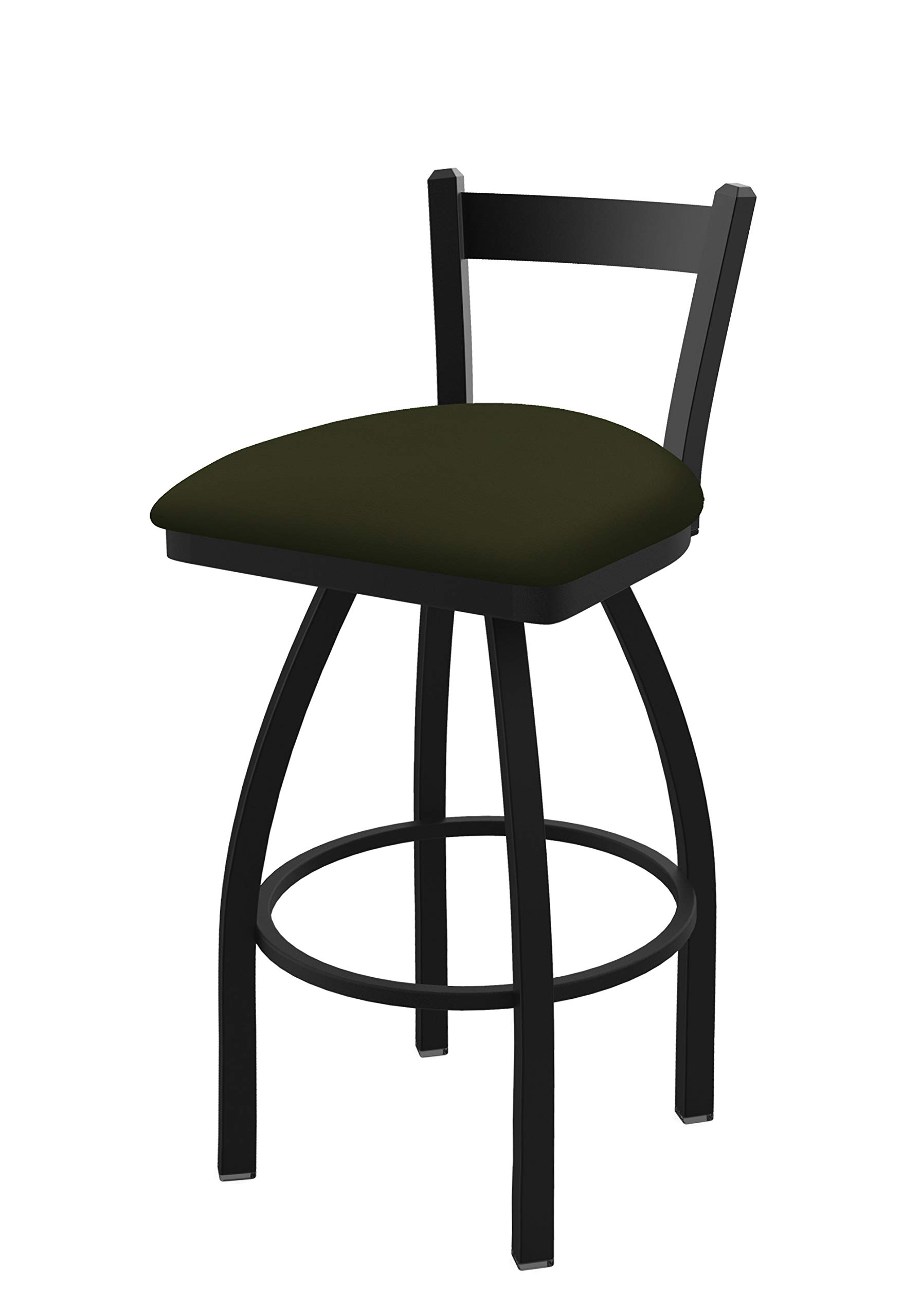 Holland Bar Stool Co. 82125BW010 821 Catalina 25'' Low Back Swivel Counter Black Wrinkle Finish and Canter Pine Seat Bar Stool