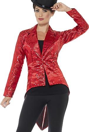 Chaqueta Roja con lentejuelas para mujer