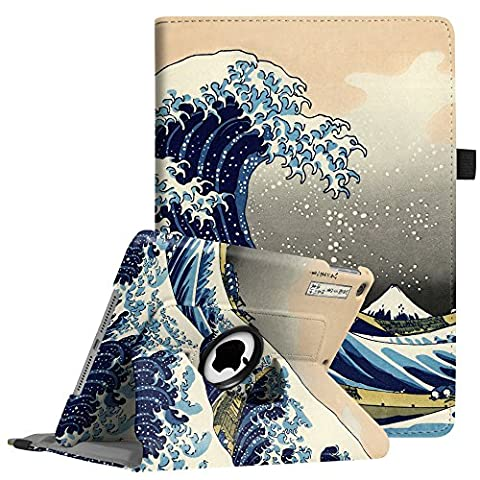 Fintie iPad 9.7 inch 2017 / iPad Air Case - 360 Degree Rotating Stand Cover with Auto Sleep Wake for Apple New iPad 9.7 inch 2017 Tablet / iPad Air 2013 Model, Rough (Ipad Air 32gb Wifi Case)