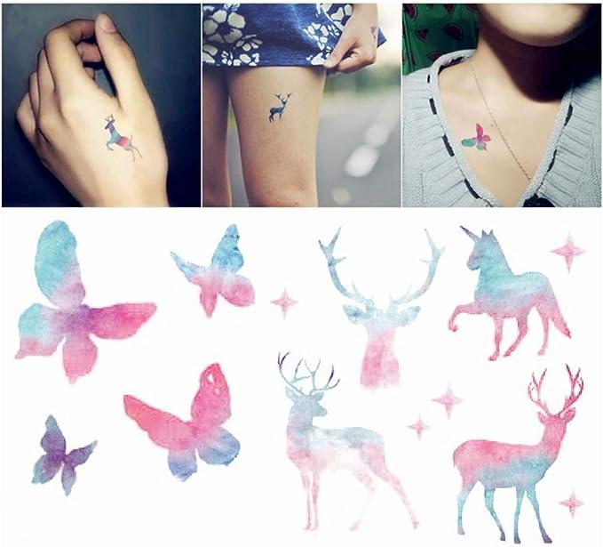 Tatuajes temporales para hombres adultos Mujeres niños (30 hojas ...
