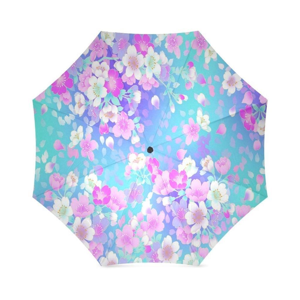a3c8494b544d EnnE Cherry Blossom Umbrella Rain Windproof Compact Folding Travel ...