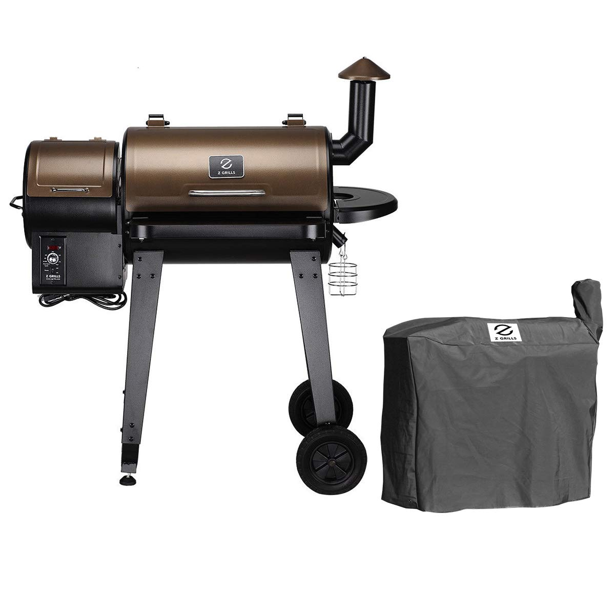 Z GRILLS ZPG-450A Wood Pellet Grill Smoker for Outdoor Cooking with Cover by Z GRILLS