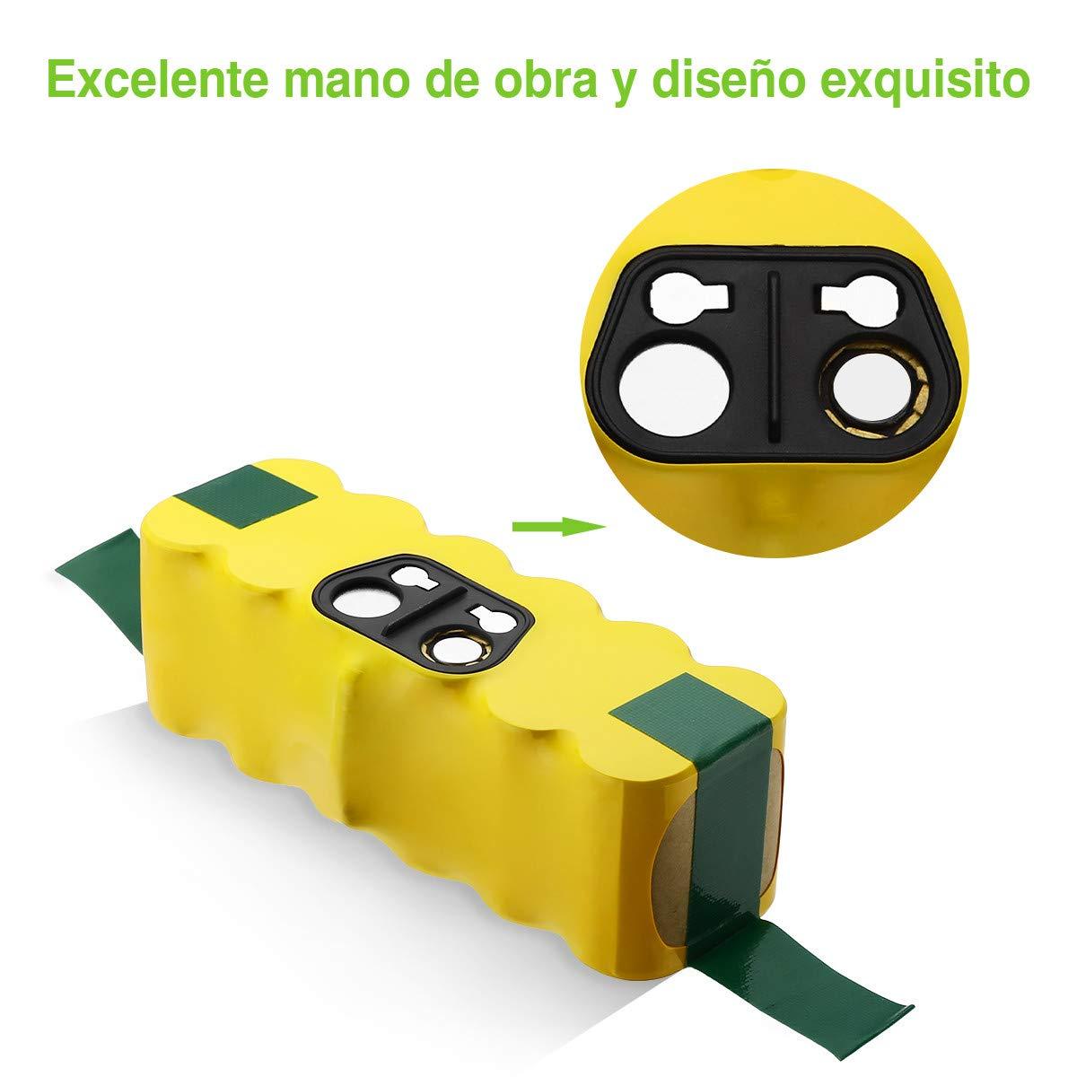 Powerextra iRobot Roomba Batería 3800mAh Batería para Roomba R3 500 600 700 800 900 Series 500 510 530 531 532 535 536 540 550 552 560 570 580 595 600 620 650 660 700 760 770 780 790 800 870 900 980