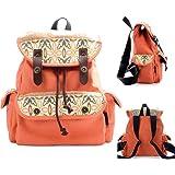 MoreChic School Backpacks for Teen Girls Lightweight Canvas Backpack Bookbags