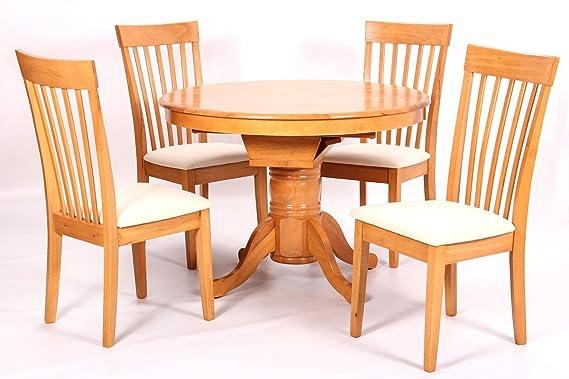 Home Gift Garden HGG - Mesa de Comedor Extensible y 4 sillas ...