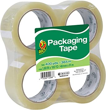 """36 ROLLS BEST REVIEWSEach roll is /""""double/""""! CLEAR PACKING SHIPPING TAPE"""