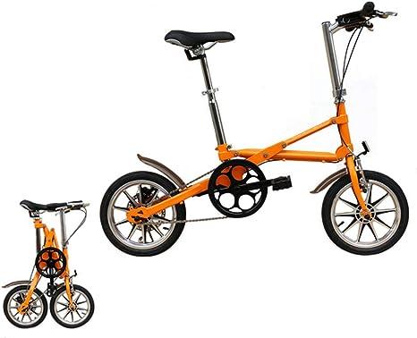 YQ Bicicleta Plegable 14 Pulgadas, Un Segundo, Bicicletas De Acero ...
