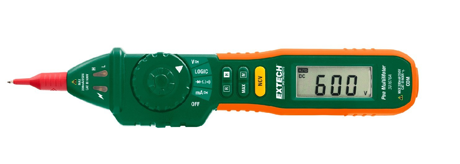 Extech 381676A Pen MultiMeter with Built-in NCV, Fully Loaded Pen-style Meter with 9 Functions, Auto/Manual Ranging Pen-style Multimeter, Large 2000 Count High Contrast LCD Display by Extech (Image #5)