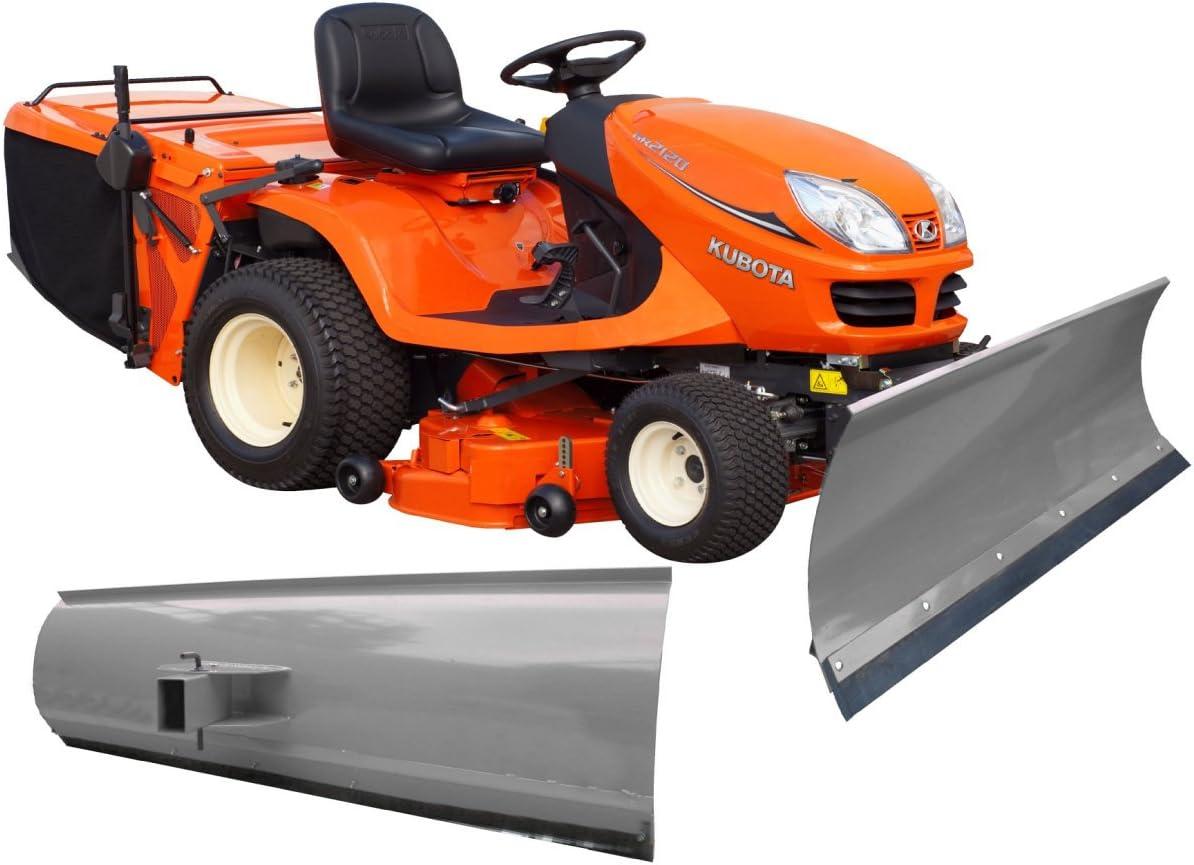 BEBV – Hoja quitanieves universal gris/100 cm de ancho y 40 cm de alto/3 mm Acero/para tractores cortacésped, quads y tractores Quad ATV etc/5 niveles de Ajustable/Refuerzo en la Parte Inferior de