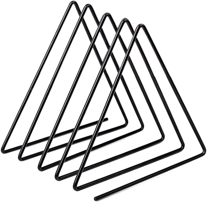 sorliva Triangle File Folder Racks,Newspaper Organizer Sorter,Magazine Holder,Book Racks ,Desktop Bookshelf ,Home Office Decor Black