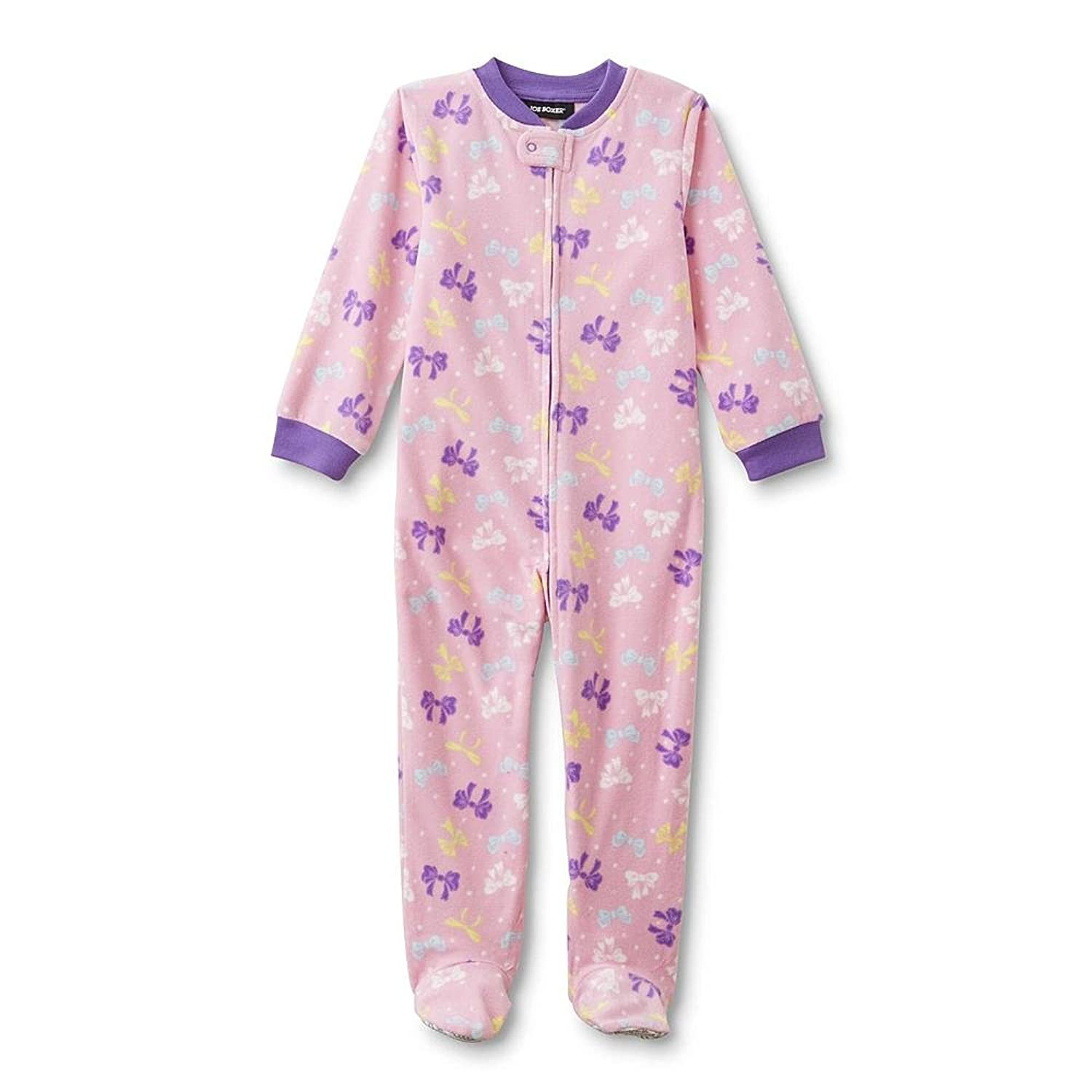 69bf1e74f8 Joe Boxer Infant   Toddler Girls  Footed Sleeper Pajamas - Bow 12 Months