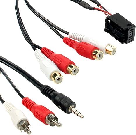 Maxxcount Quadlock Stecker Mit 12 Pin Auf Cinch Elektronik