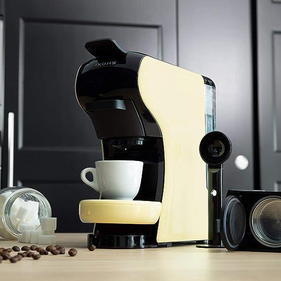 IKOHS Máquina de Café Espresso Italiano - Cafetera Multi Cápsulas Nespresso 3 en 1 Beige Crema: Amazon.es: Hogar