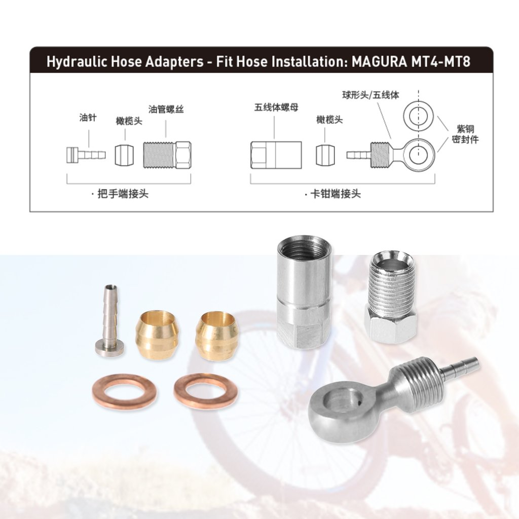 10 Sets Bicycle MTB Brake Olive Connect Insert for Shimano BH90 Hydraulic Disc