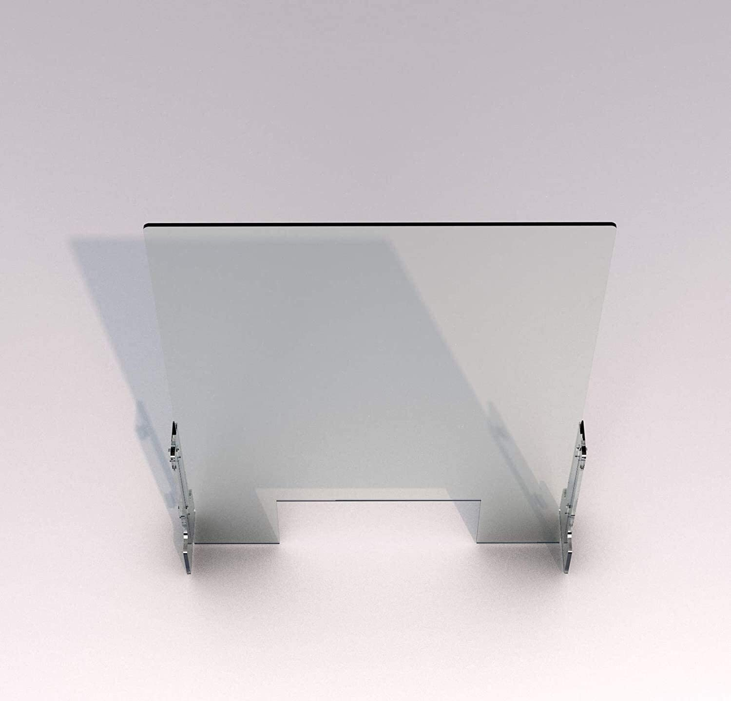 Sneeze Guard for Counter and Desk Sneeze Guard Plastic Protection Barrier Countertop Barrier Sheild Table Desk Check Counter Store Size : 24 W x 24 H