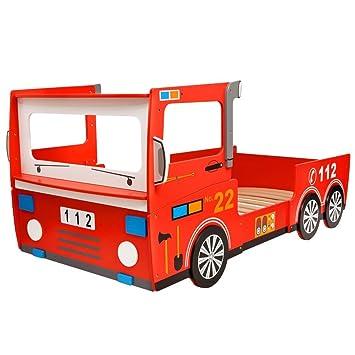 Vidaxl Lit Camion De Pompier Pour Enfants Lit D Enfant 200 X 90 Cm