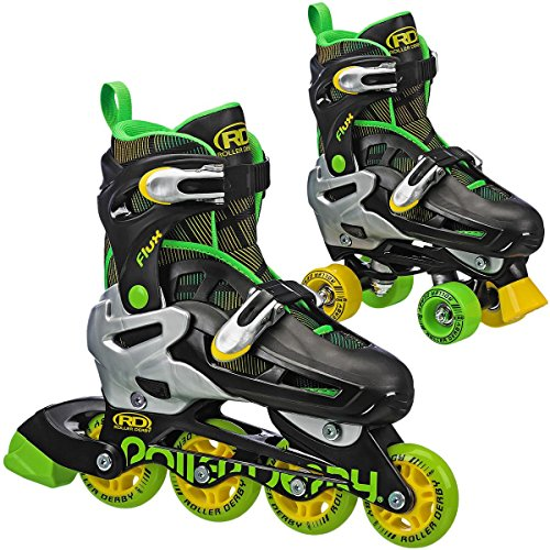 Roller Derby Flux Boys Inline/Roller Combo Skate Small (12-2)