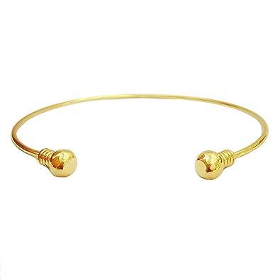 6f2ede6a5047d OCTCHOCO Minimalist Gold Open Arm Bracelet Fashion Silver Upper Arm Cuff  Bangle Dia 3.5 quot  (