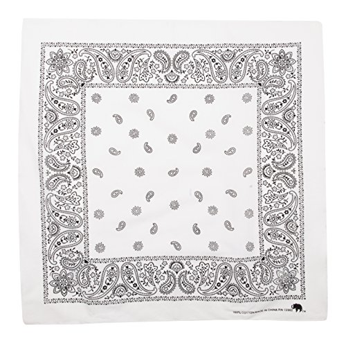 Elephant Brand Bandanas 100% Cotton Since 1898-12 Pack (White)]()