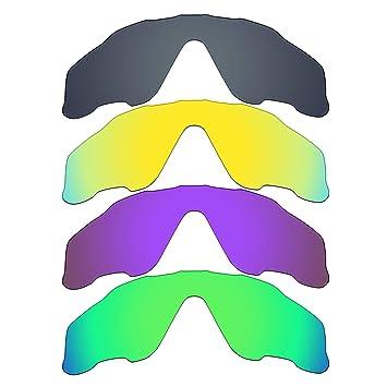 MRY 4 pares polarizadas lentes de repuesto para Oakley Jawbreaker sunglasses-black Iridio/24