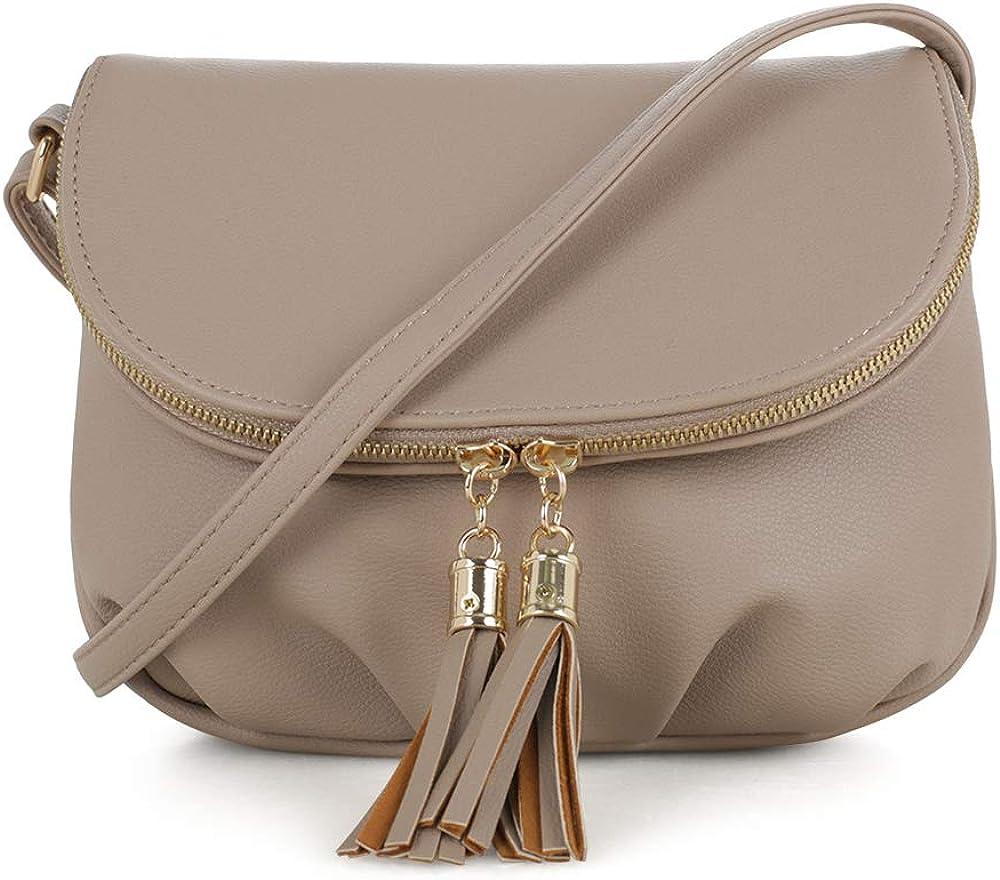 EMPERIA Savanna Small Vegan Faux Leather Front Flap Crossbody Bags Shoulder Bag Messenger Bag Purse Handbags for Women