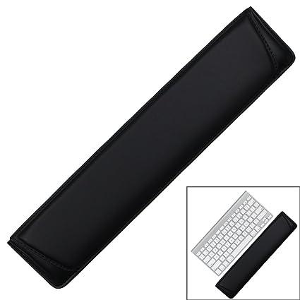 Almohadilla de apoyo para teclado de muñeca, suave piel sintética con interior suave cojín de espuma ...