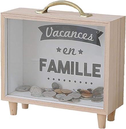 Yanhonin - Hucha de madera, para viaje, maletín, caja de madera, para habitación infantil: Amazon.es: Hogar